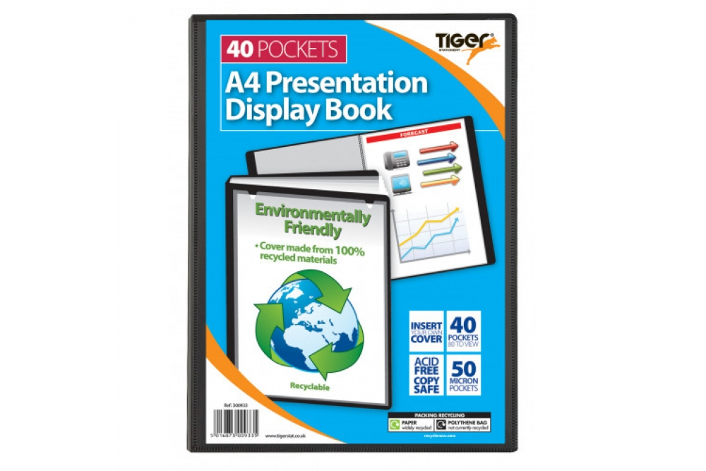 Presentation Book 40Pkt Black