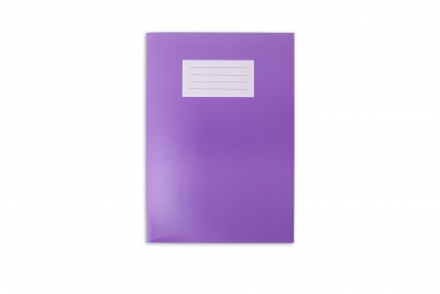 Premium Exercise Book A4 80 page (297 x 210mm) 8mm Feint & Margin Vibrant Purple