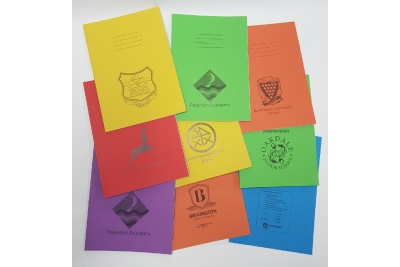 FREE logo printing on your Exercise books